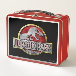 Jurassic Park | Metal Logo Metal Lunch Box