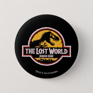 Jurassic Park The Lost World Logo Button