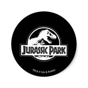 Jurassic Park | White Logo Classic Round Sticker
