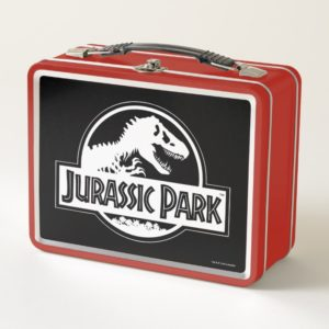 Jurassic Park | White Logo Metal Lunch Box