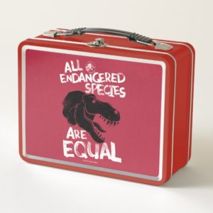 Jurassic World | All Endangered Species are Equal Metal Lunch Box
