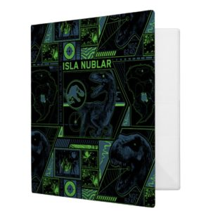 Jurassic World | Black Tracker Pattern 3 Ring Binder
