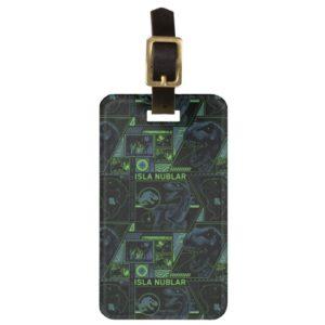 Jurassic World | Black Tracker Pattern Bag Tag