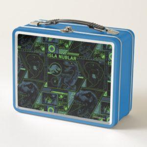 Jurassic World | Black Tracker Pattern Metal Lunch Box