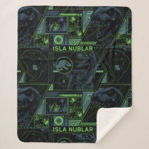 Jurassic World | Black Tracker Pattern Sherpa Blanket