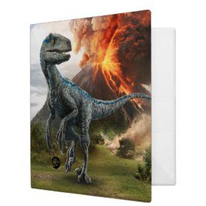 Jurassic World | Blue 3 Ring Binder