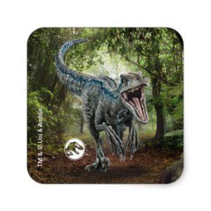 Jurassic World | Blue - Nature's Got Teeth Square Sticker