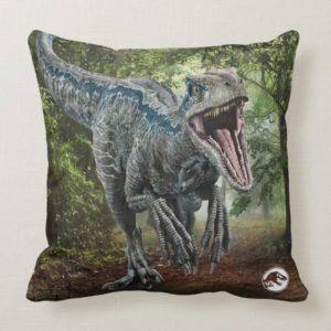 Jurassic World   Blue - Nature's Got Teeth Throw Pillow