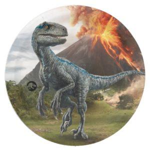 Jurassic World | Blue Paper Plate