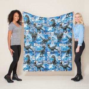 Jurassic World   Blue Pattern Fleece Blanket