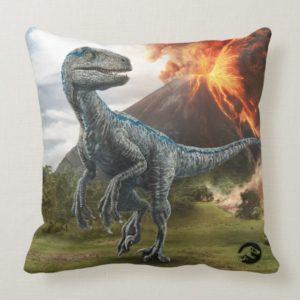 Jurassic World | Blue Throw Pillow