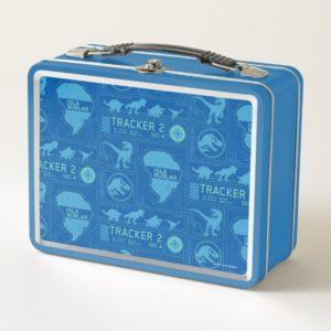 Jurassic World | Blue Tracker Pattern Metal Lunch Box