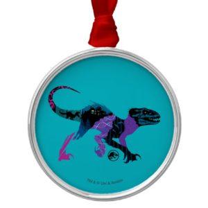 Jurassic World | Colorful Indoraptor Metal Ornament