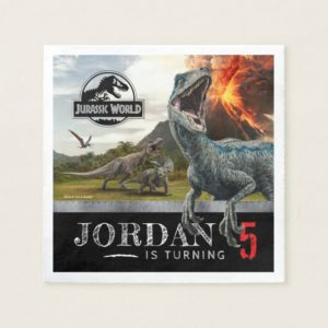 Jurassic World   Dinosaur Birthday Napkin