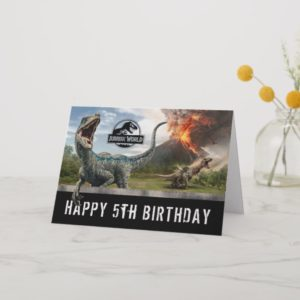 Jurassic World | Dinosaur Happy Birthday Card