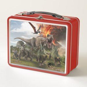 Jurassic World Dinosaur Herd Metal Lunch Box