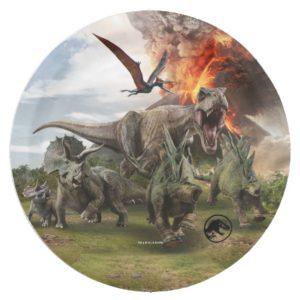 Jurassic World Dinosaur Herd Paper Plate