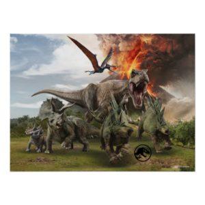 Jurassic World Dinosaur Herd Poster