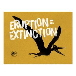Jurassic World | Eruption = Extinction Postcard