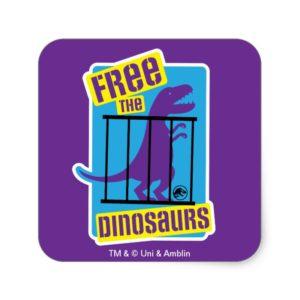 Jurassic World | Free the Dinosaurs Square Sticker