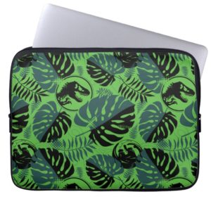 Jurassic World | Green & Black Jungle Pattern Computer Sleeve