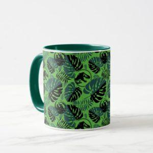 Jurassic World   Green & Black Jungle Pattern Mug