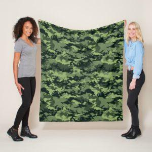 Jurassic World   Green Dinosaur Camo Pattern Fleece Blanket