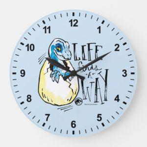Jurassic World | Life Finds a Way Large Clock