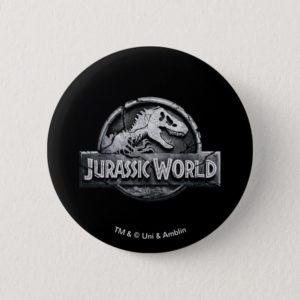 Jurassic World Logo Button