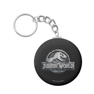 Jurassic World Logo Keychain