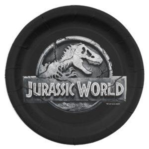 Jurassic World Logo Paper Plate