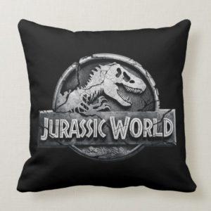 Jurassic World Logo Throw Pillow