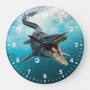 Jurassic World   Mosasaurus Large Clock