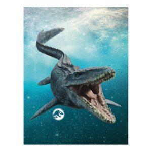 Jurassic World   Mosasaurus Postcard