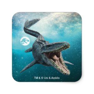 Jurassic World   Mosasaurus Square Sticker