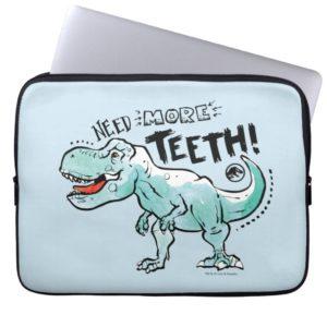 Jurassic World | Need More Teeth Computer Sleeve