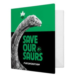 Jurassic World   Save Our Saurs 3 Ring Binder