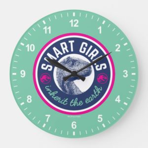 Jurassic World | Smart Girls Inherit the Earth Large Clock