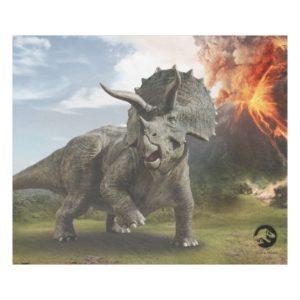 Jurassic World | Triceratops Fleece Blanket