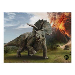 Jurassic World | Triceratops Poster