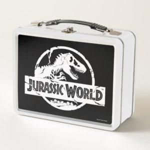 Jurassic World   White Logo Metal Lunch Box