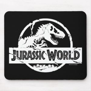 Jurassic World | White Logo Mouse Pad