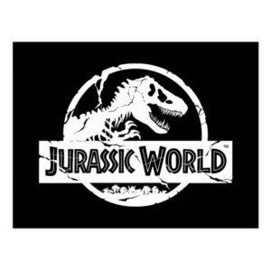 Jurassic World | White Logo Postcard