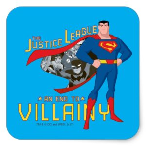 Justice League Action | An End To Villainy Square Sticker