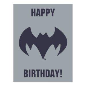 Justice League Action   Batman Bat Logo Postcard