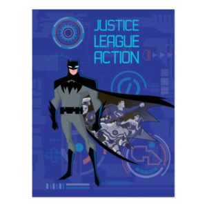 Justice League Action   Batman High Tech Graphic Postcard
