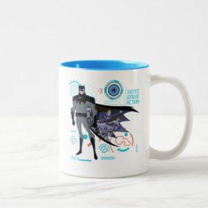 Justice League Action   Batman High Tech Graphic Two-Tone Coffee Mug