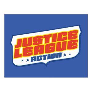 Justice League Action   Color Logo Postcard