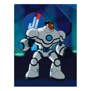 Justice League Action   Cyborg Character Art Postcard