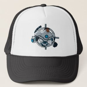 Justice League Action   Cyborg Character Art Trucker Hat